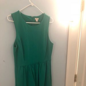 Jcrew green dress